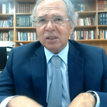 O ministro da Economia, Paulo Guedes, participa do evento Expert da XP - Reprodução