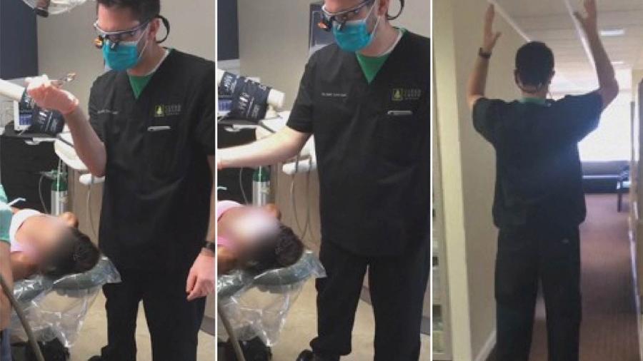 Dentista faz cirurgia em cima de um hoverboard - Reprodução/CNN