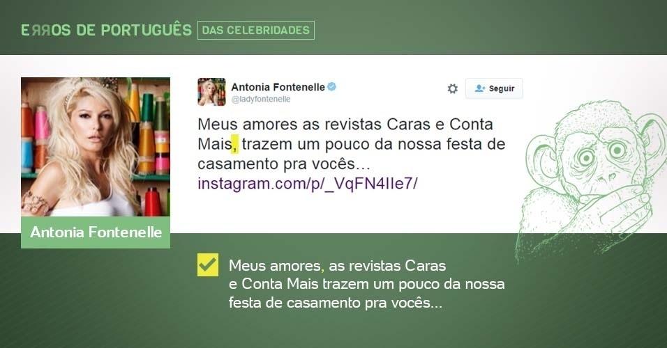 erros de português de celebridades - Antonia Fontenelle - corrigido