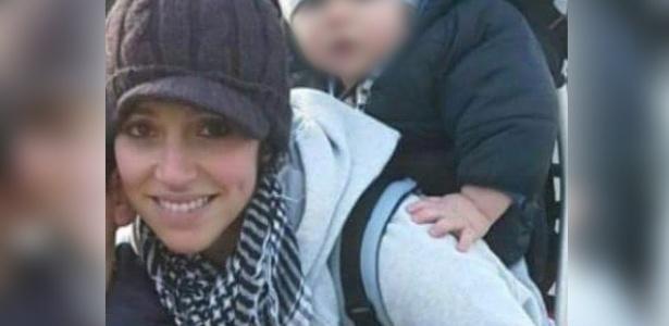 A marroquina Loubna Lafquiri com dois de seus filhos; ela foi uma das vítimas em Bruxelas, em março - Reprodução/Twitter
