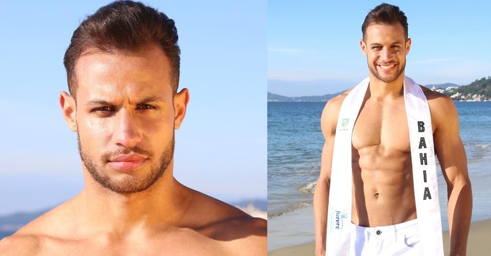 BAHIA - Aron de Freitas Santos, 22, modelo e instrutor de academia