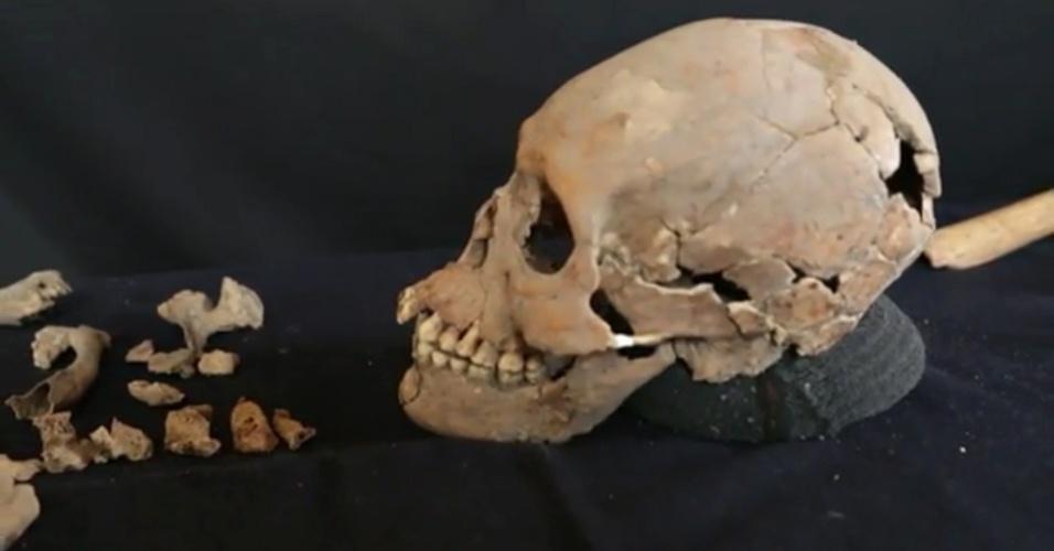 8.jul.2016 - Arqueólogos encontraram no sítio de Tlailotlacan uma das ossadas mais completas do período pré-colombiano nas Américas. A chamada 'mulher de Tlailotlacana teria vivido há cerca de 1600 anos e pertencia à civilização maia