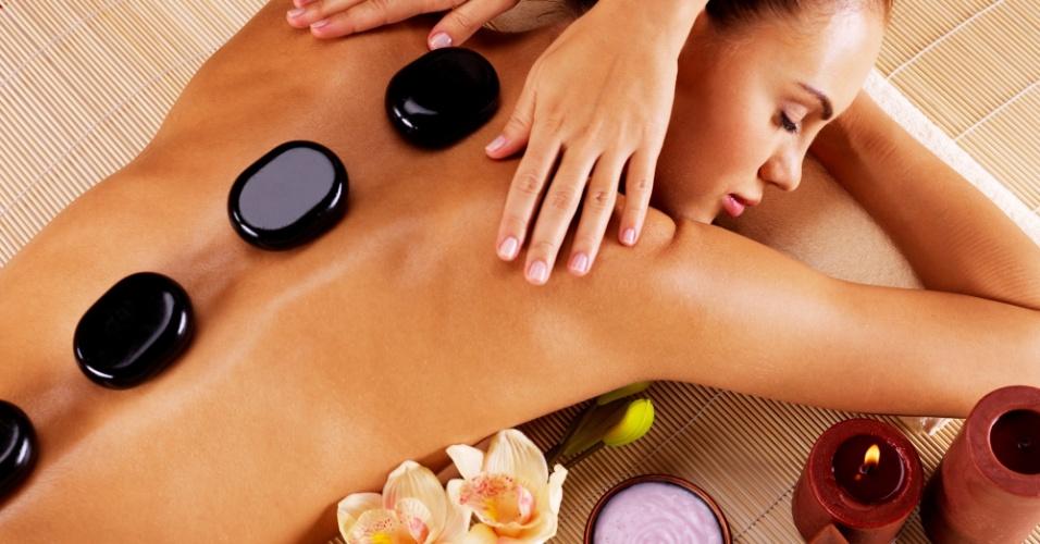 massagem, spa, pedras, relaxamento, tratamento beleza, salão