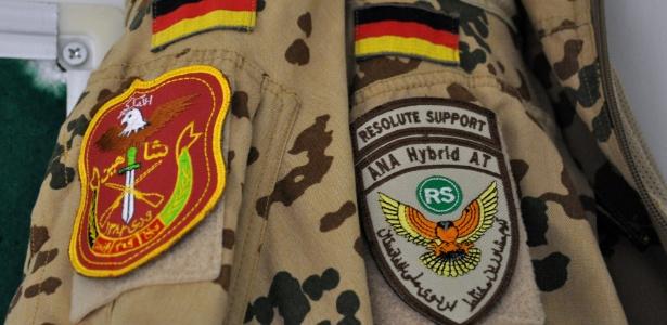 Detalhe de uniforme das forças armadas da Alemanha