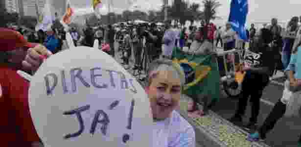 Protesto pede Diretas Já no Rio - Alessandro Buzas/Futura Press/Estadão Conteúdo