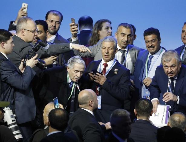 Participantes após congresso para discutir a paz na Síria - Sergei Karpukhin/Reuters