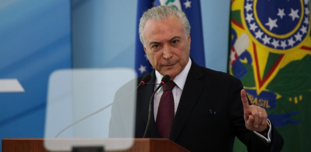 27.abr.2018 - Presidente Michel Temer faz pronunciamento sobre investigação da PF
