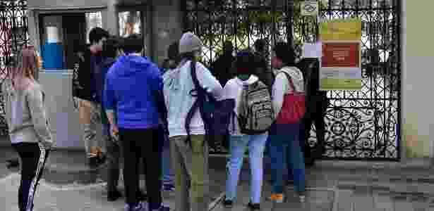 O Campus Monte Alegre da PUC amanheceu com os portões fechados  - Eduardo Carmim/Agência O Dia/Estadão Conteúdo