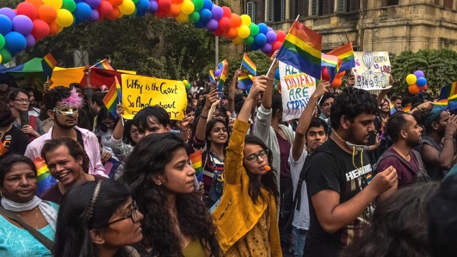 Parada do Orgulho Gay, em Nova Déli, na Índia - The New York Times