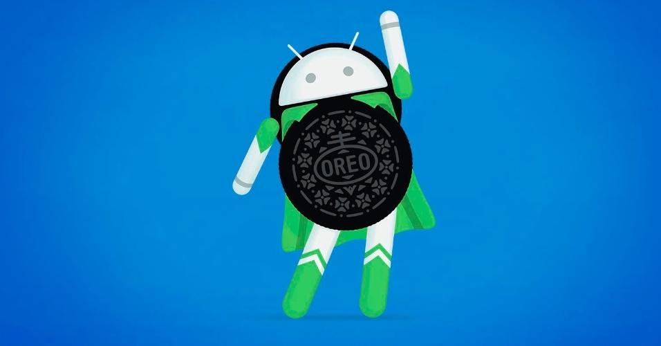 Logo do Android 8.0 ao 8.1 (Oreo), lançado em 21 de agosto de 2017