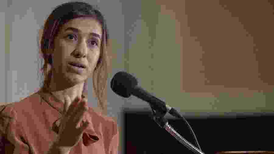 A ativista Nadia Murad fala pela primeira vez após receber o Prêmio Nobel da Paz - AFP