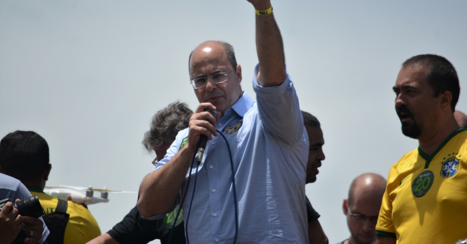 21.out.2018 - Witzel participa de ato para apoiar Bolsonaro