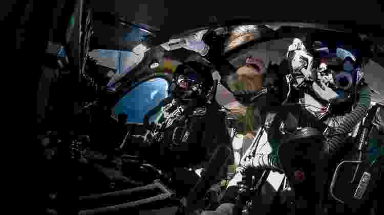 Voo da Virgin Galactic levou Beth Moses ao espaço junto com os pilotos - Divulgação - Divulgação