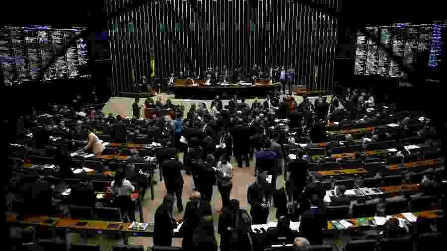 13.ago.2019 - Plenário da câmara dos deputados durante votação da MP da Liberdade Econômica - Pedro Ladeira/Folhapress