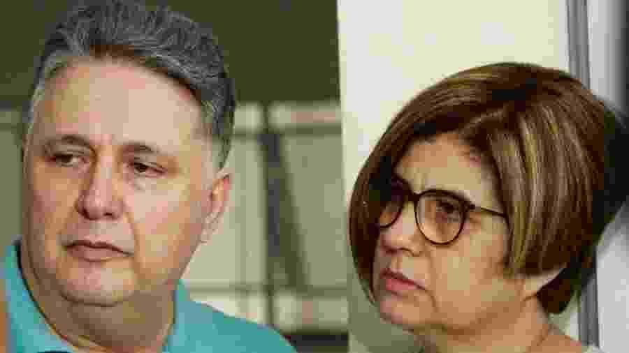 Anthony e Rosinha Garotinho na última quarta-feira (29), momentos antes da prisão - José Lucena/Futura Press/Estadão Conteúdo