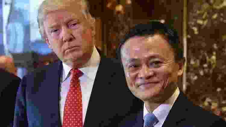 Ma discutiu questões comerciais com o então presidente eleito Donald Trump em janeiro de 2017 - Getty Images - Getty Images