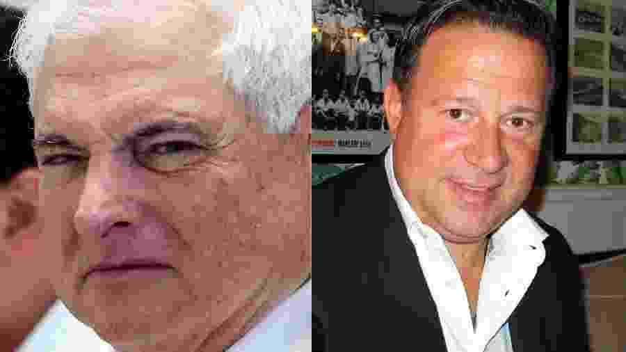 Ricardo Martinelli (2009-2014) e Juan Carlos Varela (2014-2019) já foram aliados, e hoje são inimigos políticos - Getty Images