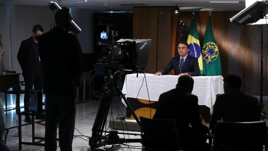 Arquivo - Bolsonaro em gravação de vídeo para discurso do ano passado na Assembleia Geral da ONU - Marcos Corrêa/PR