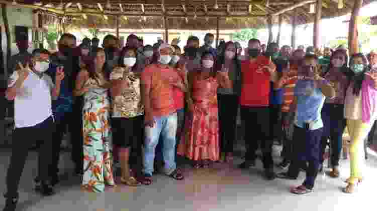 Lançamento da chapa entre Leandro Moura (PCdoB) e Maria do José (Republicanos), em Santo Amaro do Maranhão - Divulgação - Divulgação