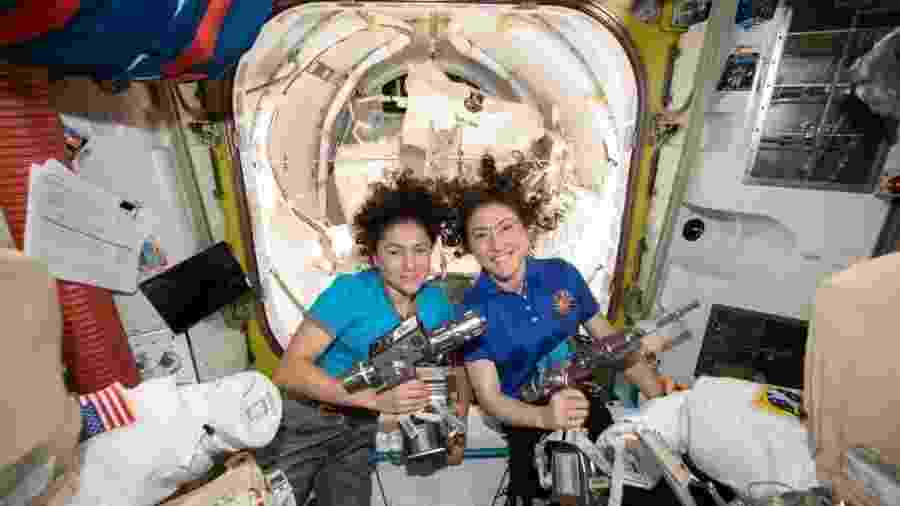 A previsão é de que cada vez mais mulheres participem de missões espaciais - Reprodução/NASA
