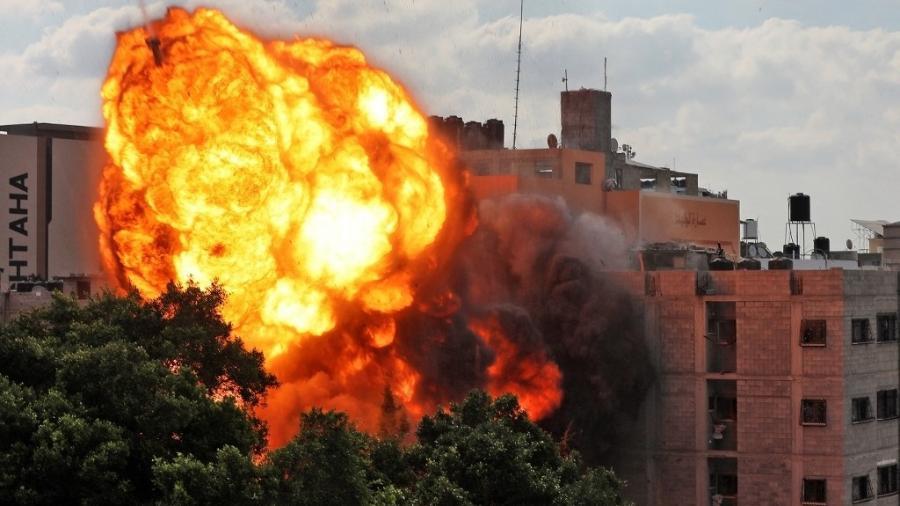 Ataque israelense atinge Gaza; autoridades relatam 83 mortes em Gaza e sete em Israel  - AFP