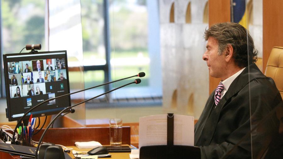 Ministro Luiz Fux preside sessão plenária do STF - Nelson Jr./SCO/STF