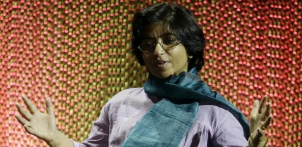 Sunitha Krishnan, vítima de violência sexual, que hoje ajuda mulheres nessa condição