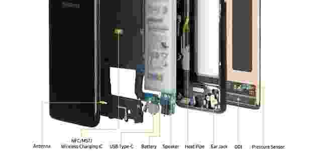 4 - por dentro do Samsung Galaxy S8 -  -