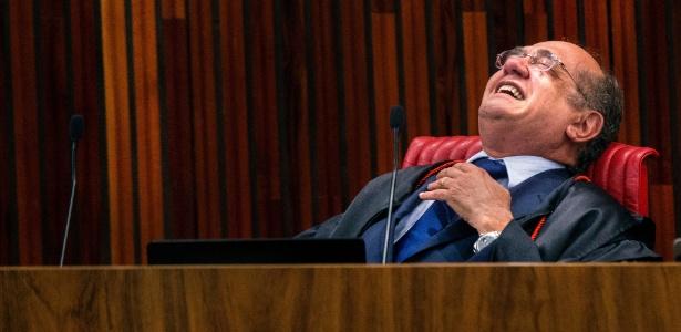 9.jun.2017 - Gilmar Mendes durante sessão do julgamento da chapa Dilma/Temer no TSE