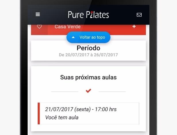 Pure Pilates aplicativo