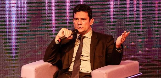 O juiz Sergio Moro durante evento em abril, em Porto Alegre