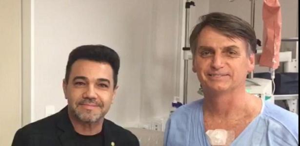 Ontem, Bolsonaro recebeu a visita do pastor Marco Feliciano (Podemos-SP)