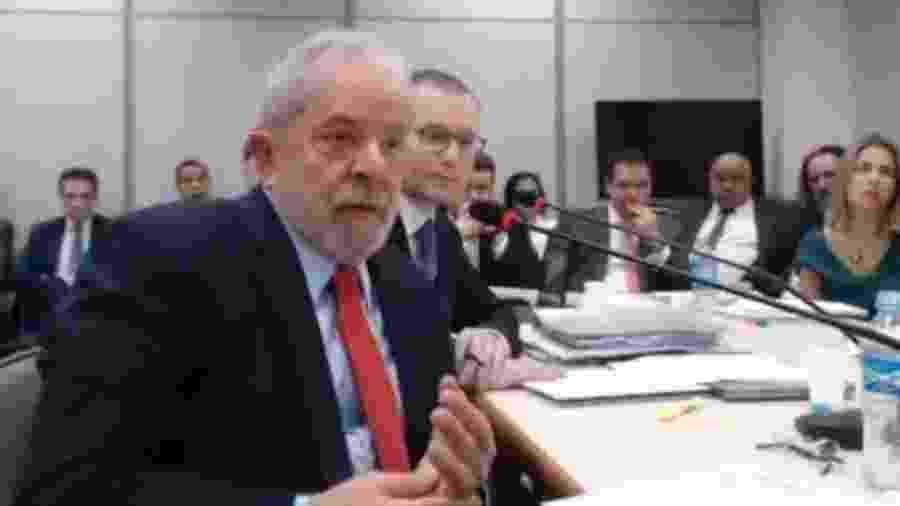 14.nov.2018 - Lula depõe em processo da Operação Lava Jato - Reprodução