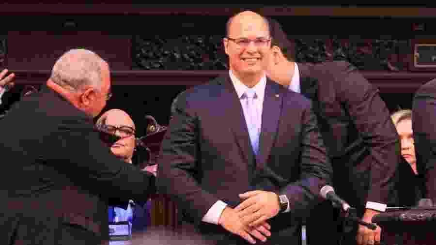 1º.jan.2019 - Governador eleito do Rio de Janeiro, Wilson Witzel (PSC) toma posse na Assembleia Legislativa do Rio - José Lucena/Futura Press/Estadão Conteúdo