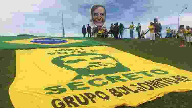 Bonecos gigantes de Bolsonaro apareceram em Brasília no dia da posse - Felipe Pereira/UOL