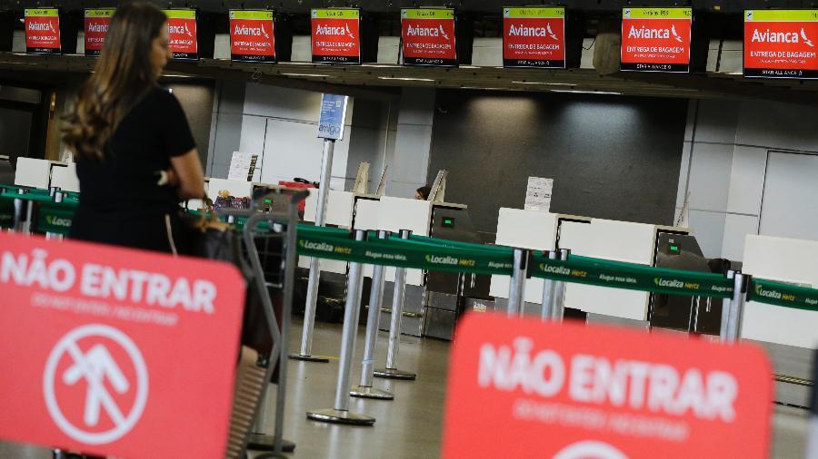 Pouco movimento na área de check-in da Avianca no Aeroporto Internacional de Guarulhos - Nelson Antoine/Estadão Conteúdo - 18.abr.2019