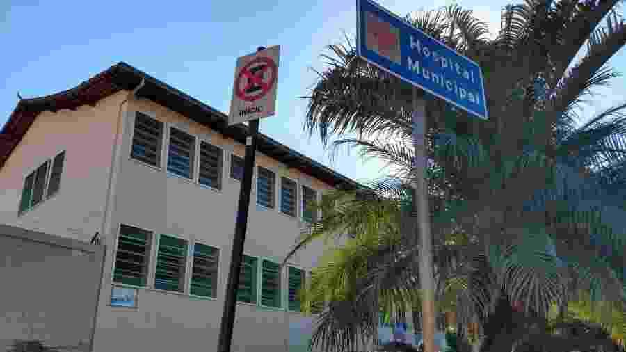 Hospital de Barão de Cocais, que pode ficar ilhado em caso de rompimento da barragem da Vale - Luciana Quierati/UOL