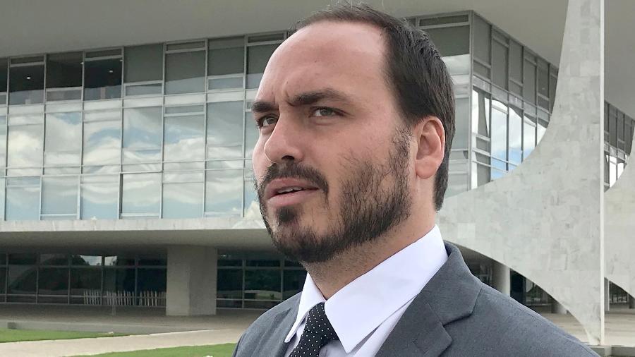Carlos Bolsonaro (PSL), vereador do Rio e filho do presidente da República, no Palácio do Planalto - Dida Sampaio - 18.mar.2019/Agência Estado