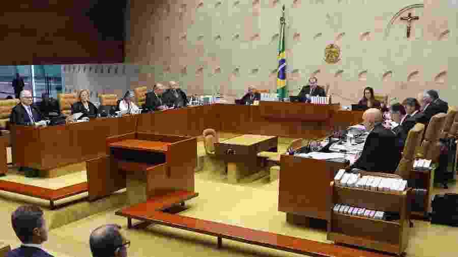 26.set.2019 - Ministros participam de sessão no plenário do STF - Nelson Jr./SCO/STF