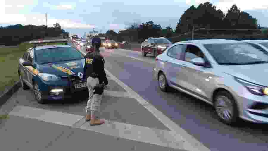 Operação da Polícia Rodoviária Federal na estrada - PRF/Divulgação