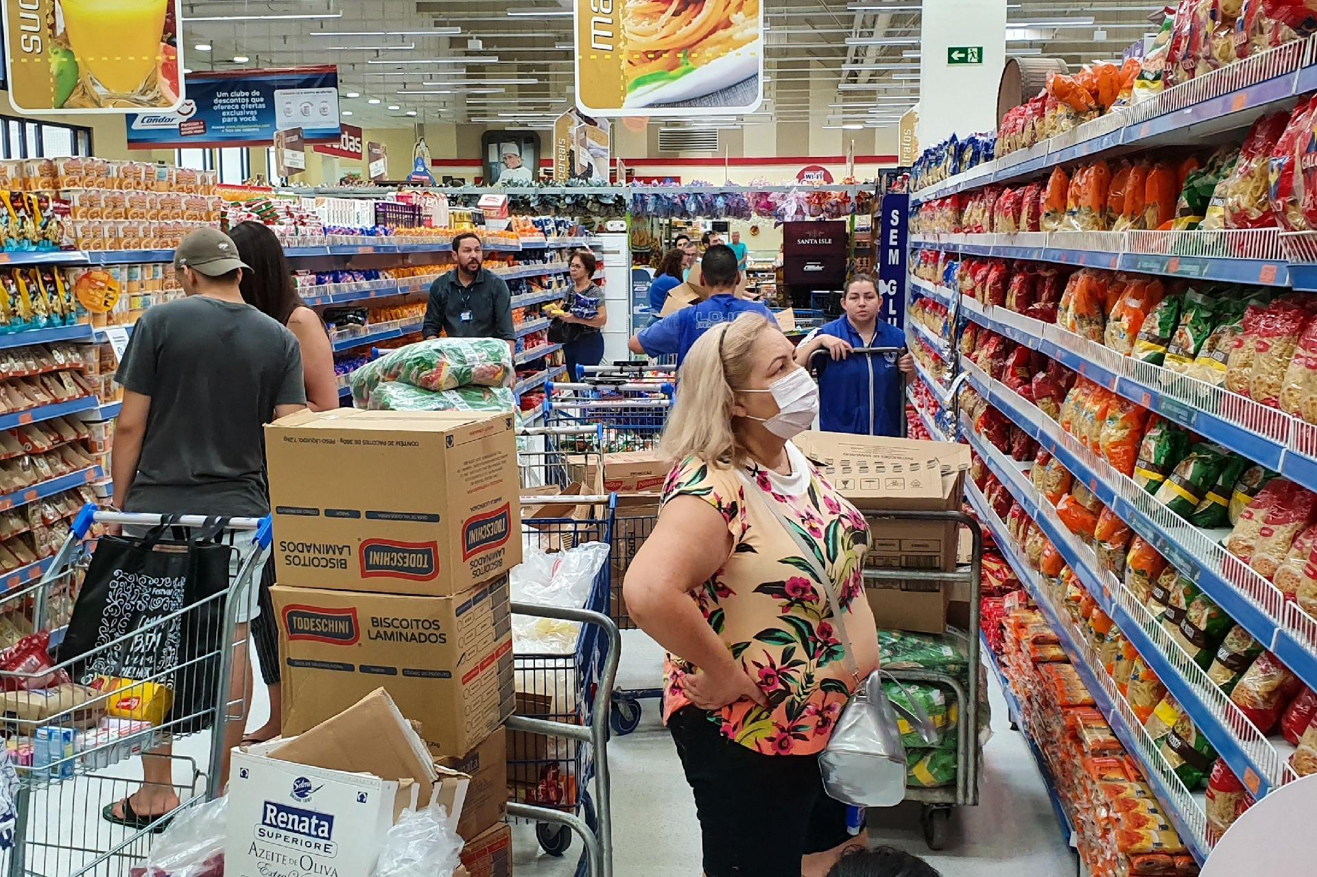 Resultado de imagem para supermercados corona virus