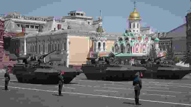 Tanques russos - Pavel Golovkin/pool/AFP - Pavel Golovkin/pool/AFP