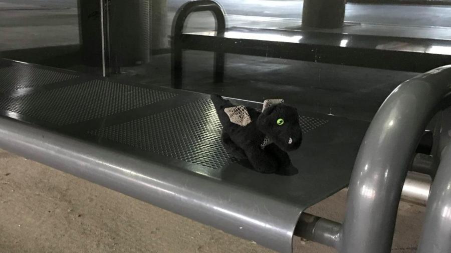 Dragão de pelúcia foi perdido por garotinha no Aeroporto Internacional Will Rogers, em Oklahoma City, nos Estados Unidos  - Reprodução/Facebook