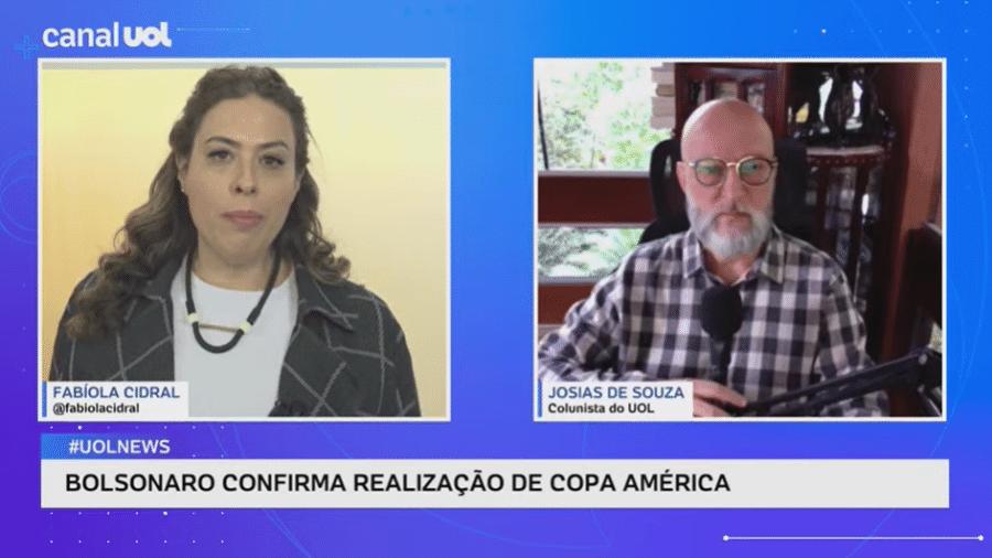 Colunista Josias de Souza diz que o presidente Jair Bolsonaro (sem partido) impediu crescimento maior do PIB - Reprodução
