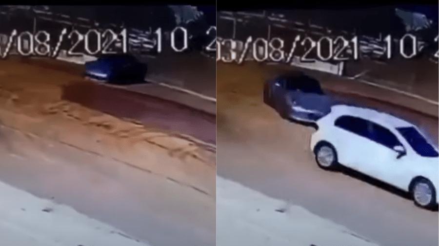 Câmeras de segurança registraram momento em que Porsche foi furtado de pátio - Reprodução/Youtube