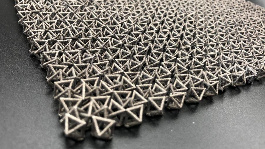 Detalhe do material criado pelos engenheiros da Caltech - Caltech