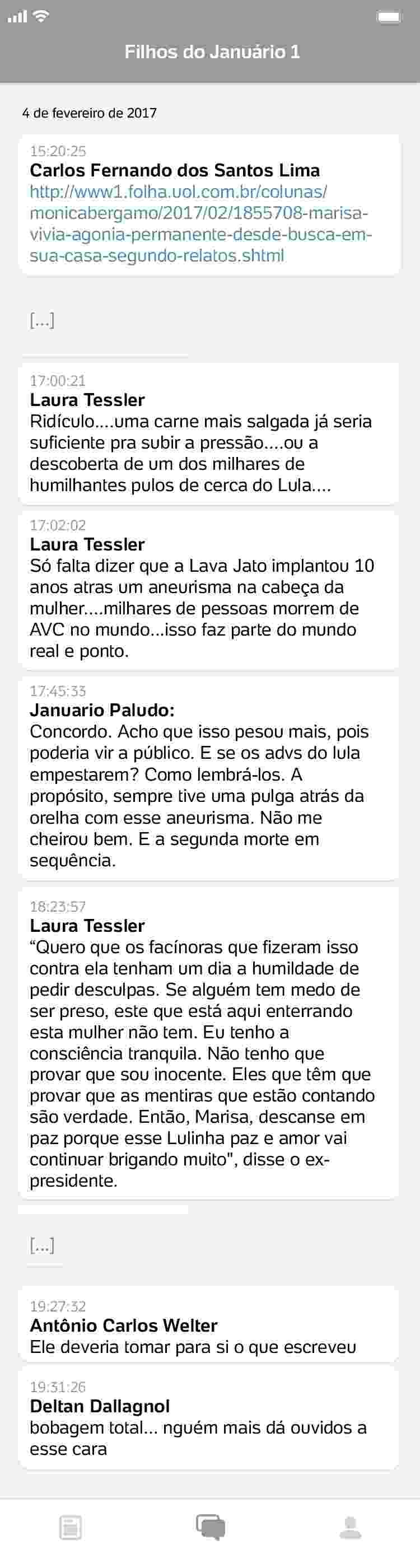 conversa4_750x2800 Procuradores da Lava Jato ironizam morte de Marisa Letícia e luto de Lula