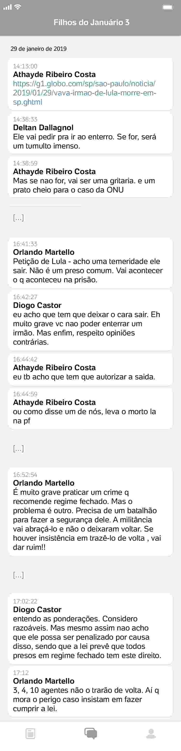conversa6_750x3110 Procuradores da Lava Jato ironizam morte de Marisa Letícia e luto de Lula
