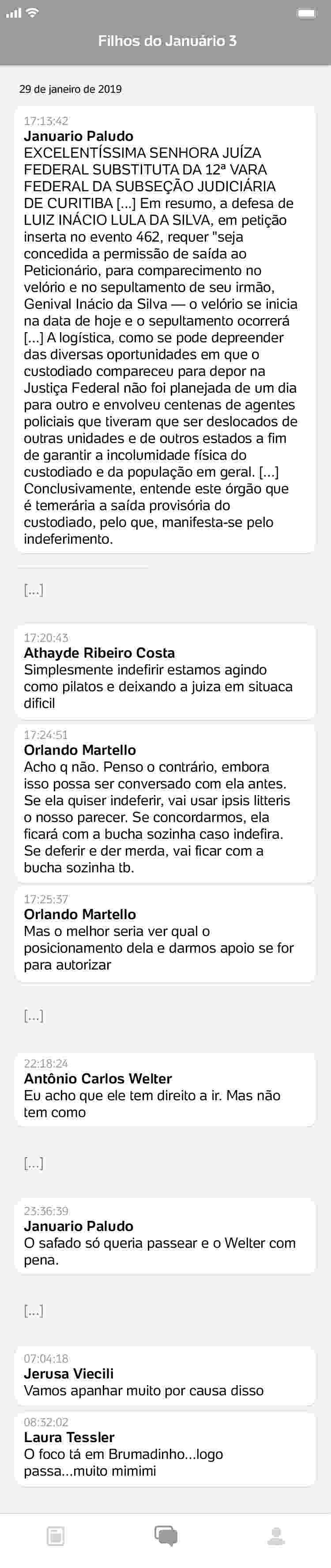 conversa7_750x3550 Procuradores da Lava Jato ironizam morte de Marisa Letícia e luto de Lula
