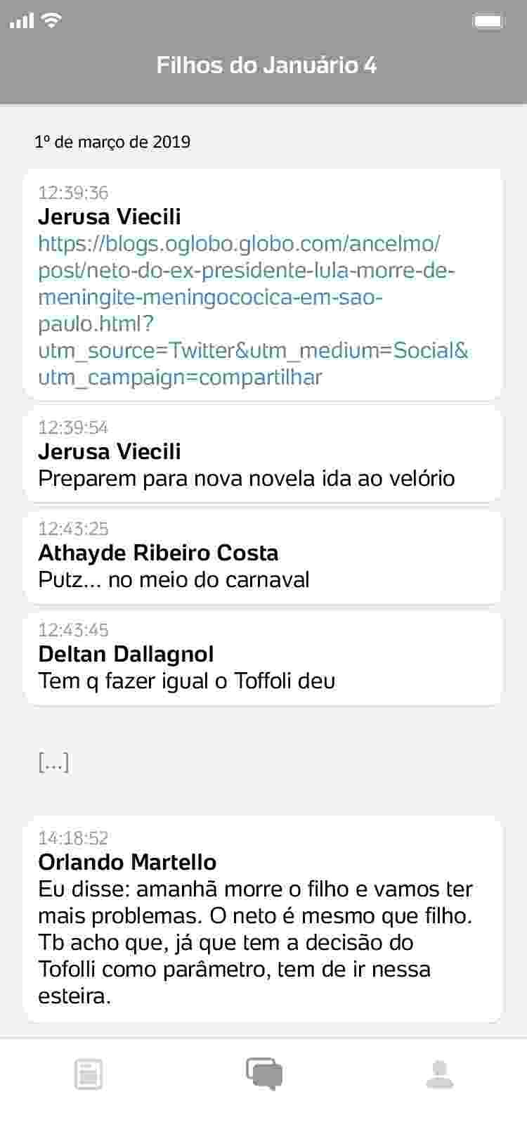 conversa8_750x1600 Procuradores da Lava Jato ironizam morte de Marisa Letícia e luto de Lula